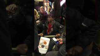 Tarron & Jordan Sing/Drum on NYC Subway
