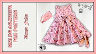Vestido infantil Beatrice – Tamanho 12 a 18 meses