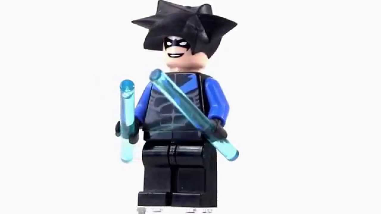 Official LEGO Nightwing Minifigure (2006, Batman) - YouTube