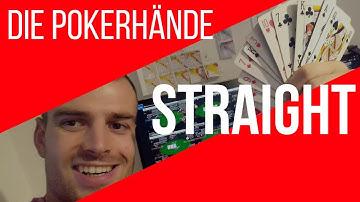 Poker Straße  - Wertigkeit bei Texas Holdem [Regeln lernen deutsch Video]