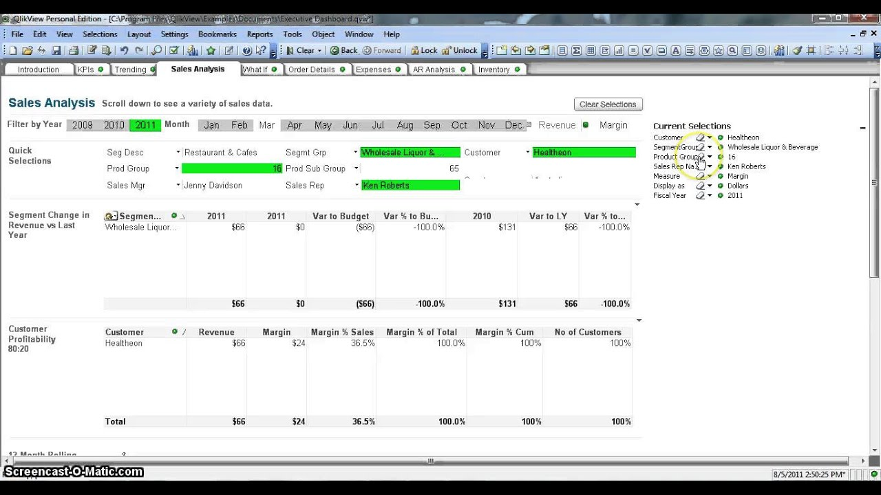 QlikView Tutorial | QlikView Current Selection Box