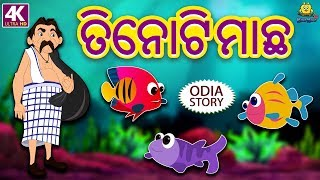 ତିନୋଟି ମାଛ - Three Fishes Story in Odia | Odia Story for Children | Fairy Tales in Odia | Koo Koo TV
