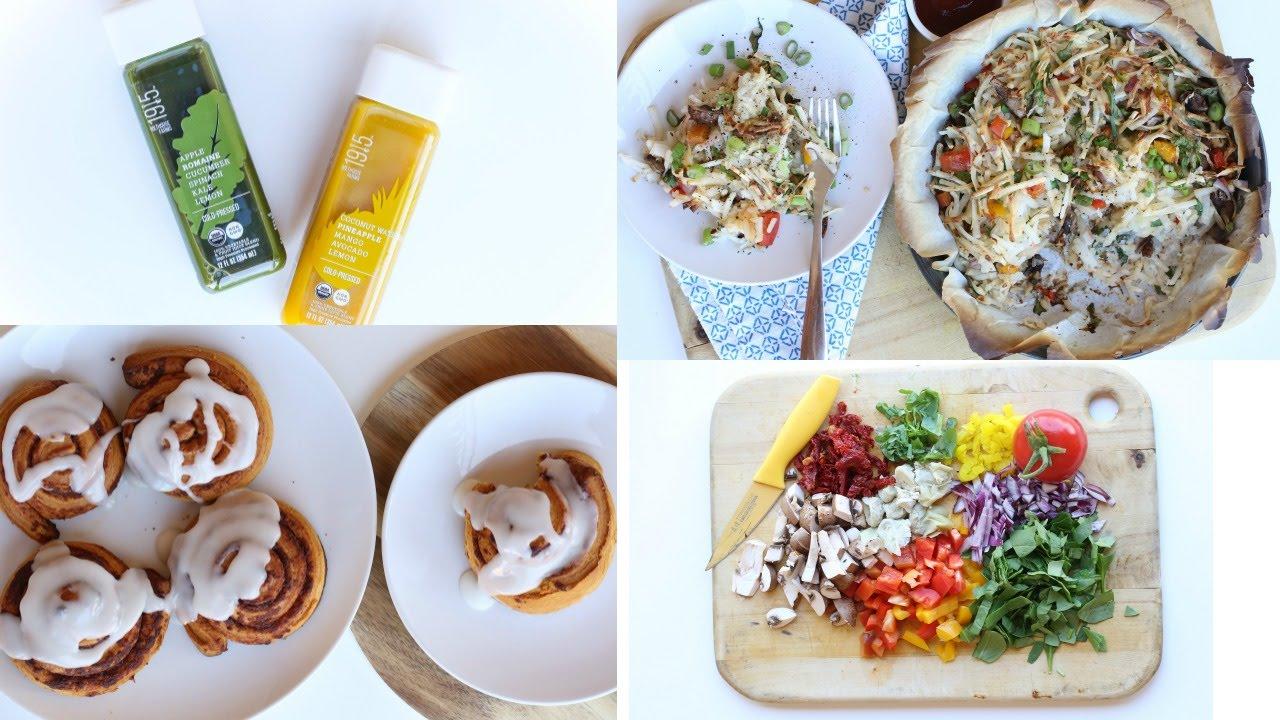 What I ATE Today | EPIC Pizza & VEGAN Cinnamon Rolls