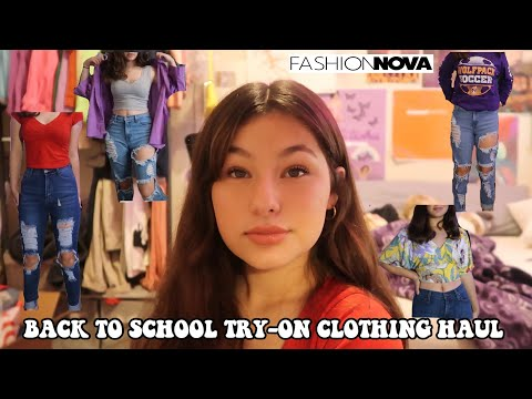 BACK TO SCHOOL CLOTHING HAUL FOR SOPHOMORE YEAR FT. FASHION NOVA!