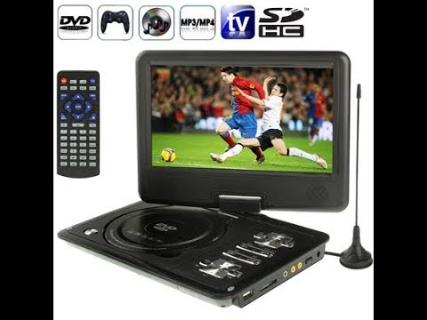 how to connect the portable dvd player to set top box or TV set by ...