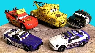 cars toon to protect and serve diecasts didi mike student lightning mcqueen mater disney pixar