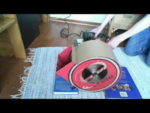 Homemade cardboard centrifugal fan (New video)