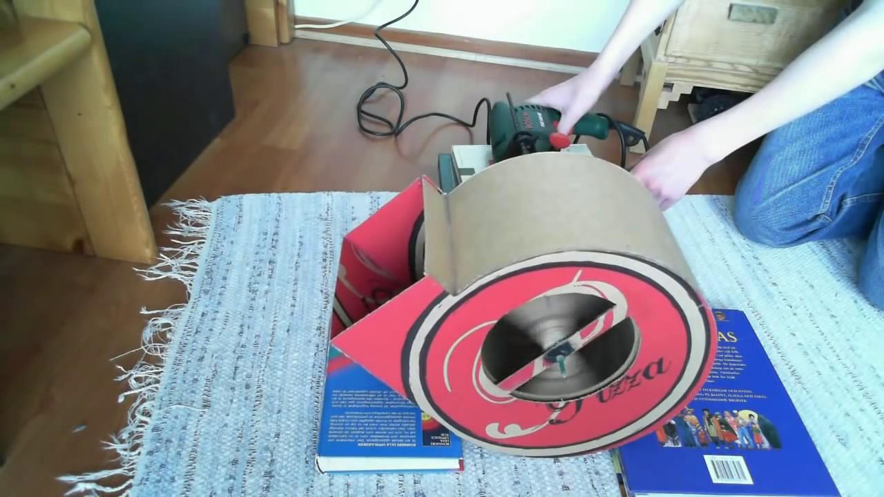Homemade cardboard centrifugal fan
