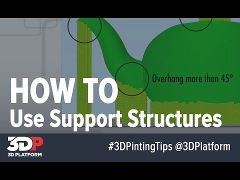 3D Printing Tips -- Using Support Materials