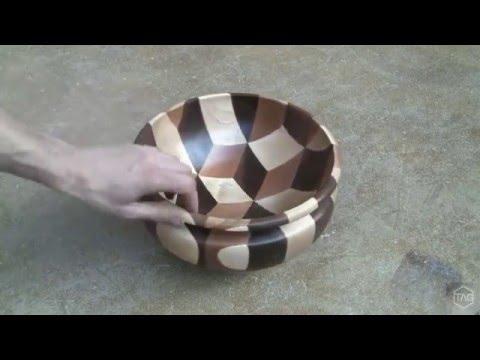 Woodturning Tumbling bowl - short edit