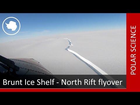 Brunt Ice Shelf - North Rift flyover (16 February 2021)