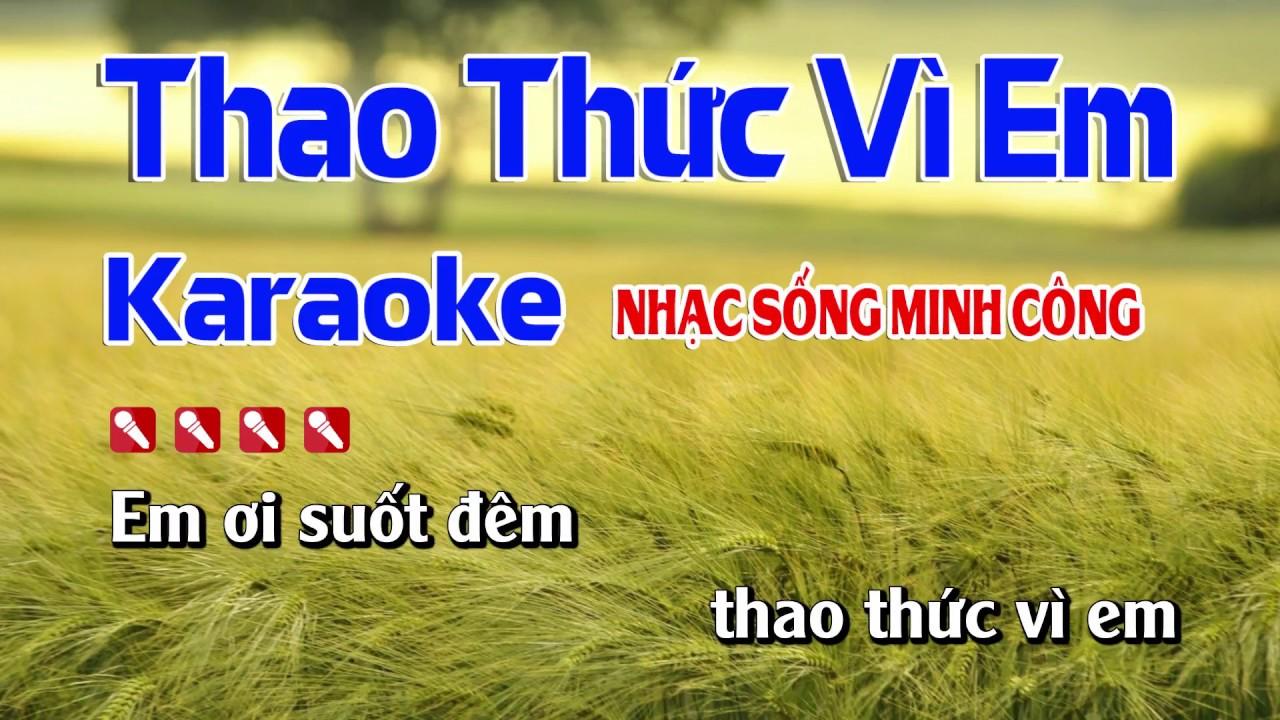Thao Thức Vì Em Karaoke Nhạc Sống Hay Nhất || Dễ Hát Nhất || Tone Nam