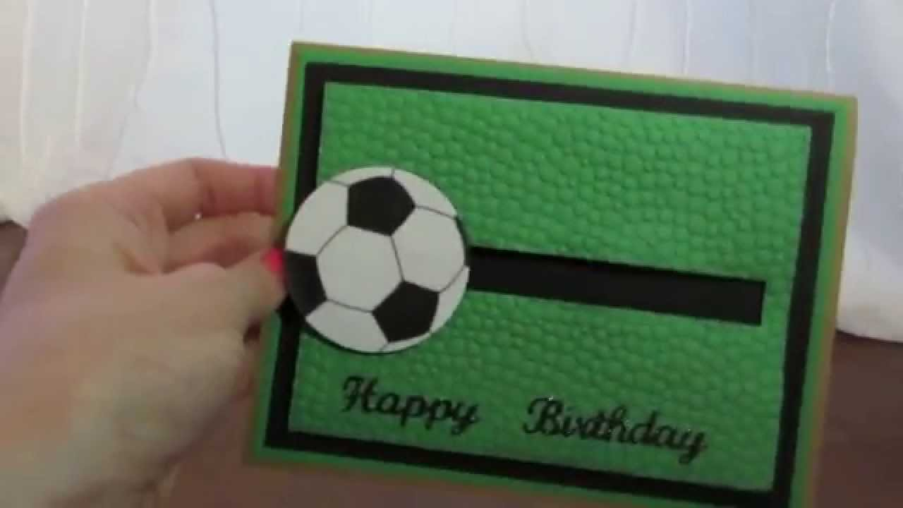 soccer spinner card video, Birthday card