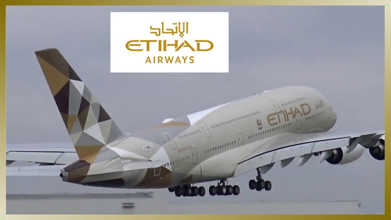 Etihad Airways Airbus A380 Close Up Taxi And Takeoff Youtube