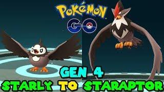 Evolving STARLY TO STARAPTOR IN POKEMON GO - POKEMON GO GEN 4