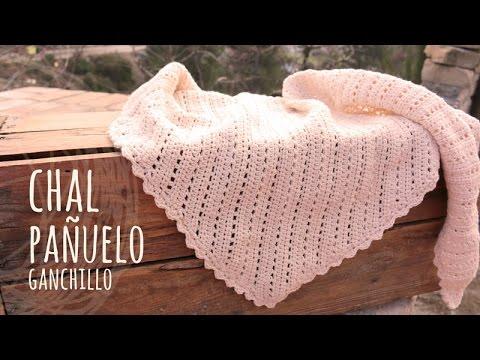 Tutorial Pañuelo | Chal Vintage Ganchillo o Crochet - YouTube