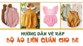 057- Hướng dẫn vẽ rập bộ áo liền quần ngắn (Romper) cơ bản cho bé | Cách lấy số đo cắt may cho bé