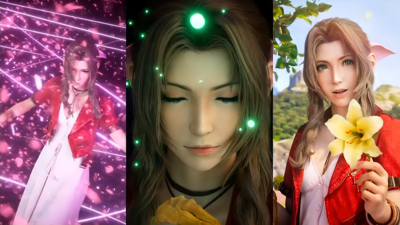 Download 【FFBE】NV Aerith CG LB (Flower Girl Aerith) + Slow Down | FFBE JP