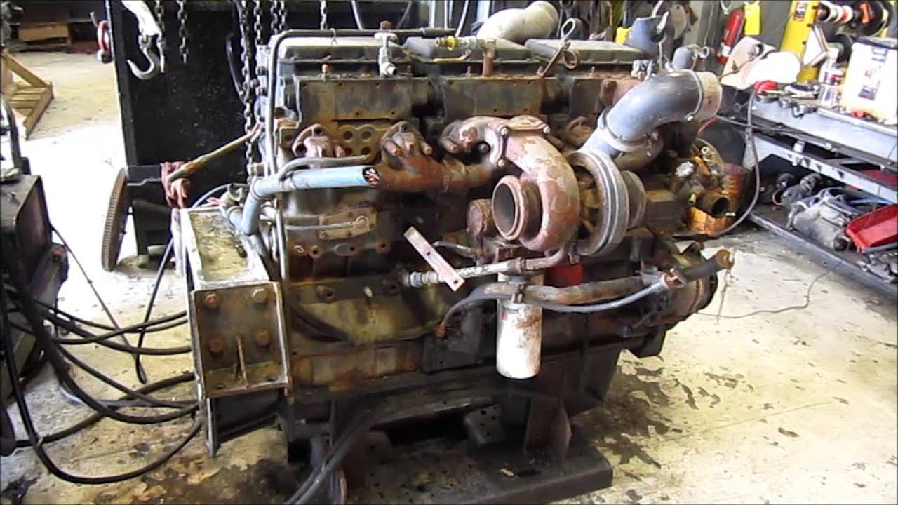 Cummins Diesel Engines >> 1994 Cummins N14 Celect Diesel Engine Running - YouTube