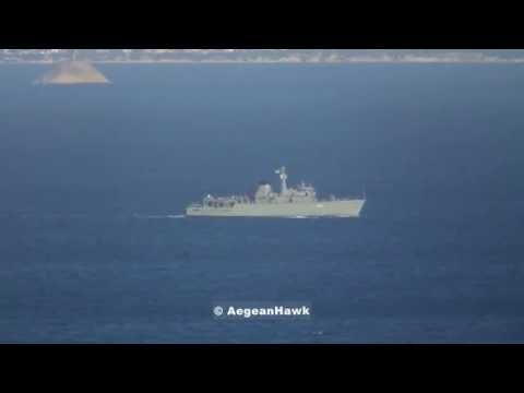 Hellenic Navy Minehunter HS Kallisto M63 patrolling the Aegean Sea.