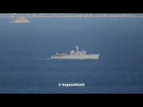 Hellenic Navy Minehunter HS Kallisto M63 Patrolling The Aegean Sea.