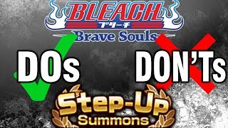 Bleach Brave Souls 4th Anniversary Step Up Fillers Dos and Don'ts