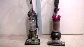 Hoover Windtunnel Air Pro vs. Dyson DC41 Animal - FULL vacuum REVIEW and TEST!