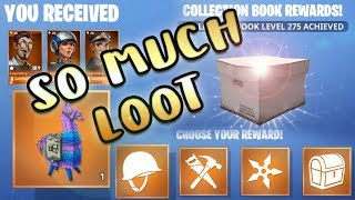 Fortnite Collection Book All Rewards Level 251 to 276 Legendary Llama