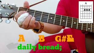 Our Father  The Lord39s Prayer Guitar Tutorial With Lyrics amp Chords  Diagram