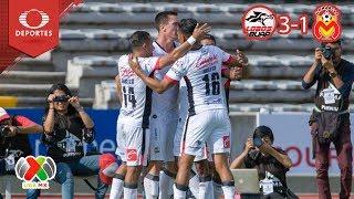 Lobos, a punto de dejar el fondo de la tabla | Lobos BUAP 3 - 1 Morelia | Televisa Deportes