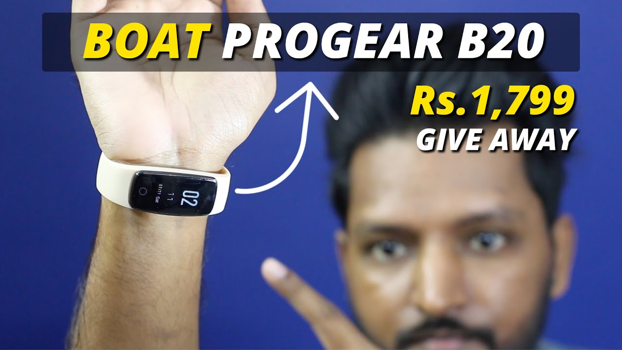Boat Progear B20 smartband | Control music & camera with this band