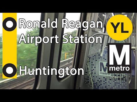 Riding WMATA Metro Yellow Line From Ronald Reagan Airport To Huntington Station