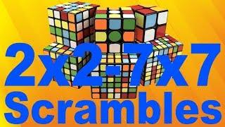 How to Scramble Any NxN Cube [2x2-7x7 WCA]