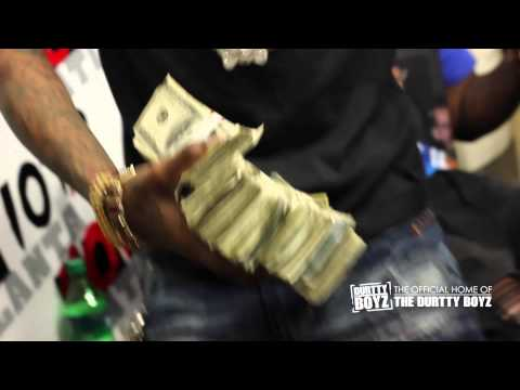 Soulja Boy Pulls out 100k Cash while debuting New Single Rick Ross on The Durtty Boyz Show