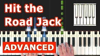Ray Charles - Hit the Road Jack - Piano Tutorial Easy - Sheet Music (Synthesia)