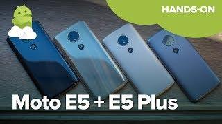 Moto E5 and E5 Plus hands-on!