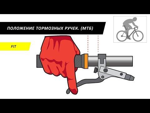 Положение тормозных ручек велосипеда (МТБ).