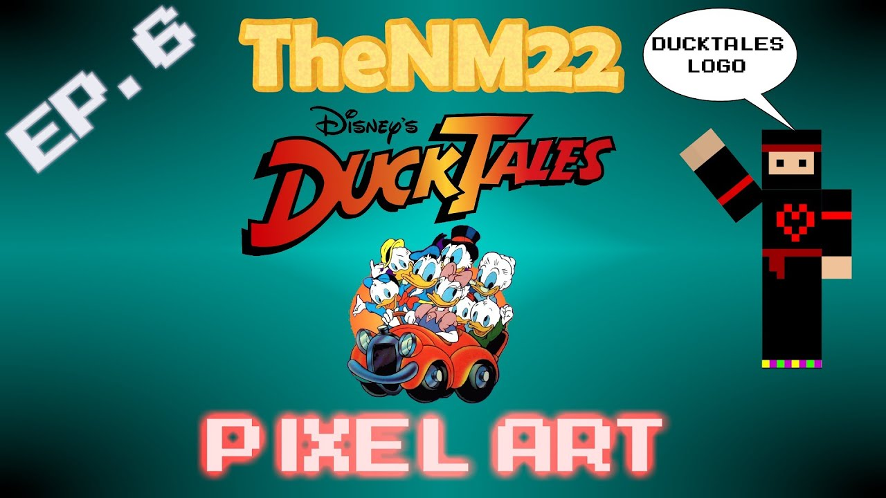 DuckTales Logo in Minecraft - TheNM22 Pixel Art - YouTube