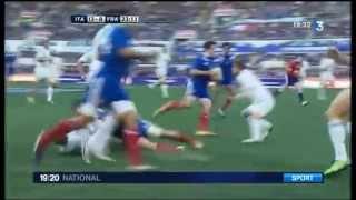 Défaite du XV de France contre l'Italie