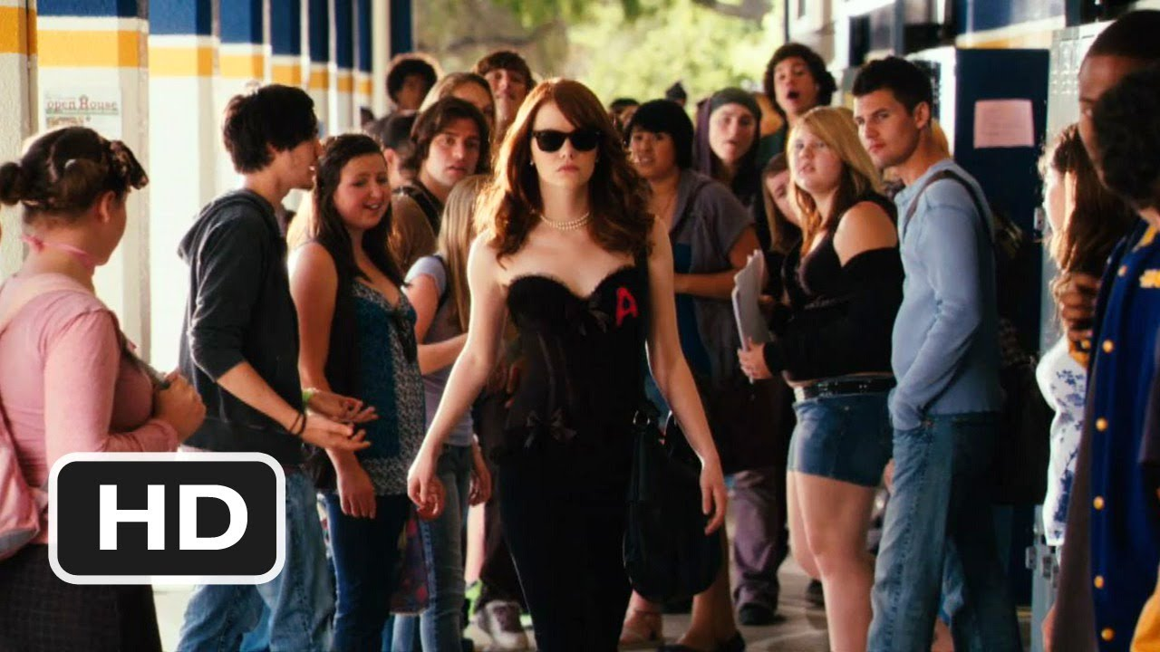 Emma Stone Scarlet Letter.Easy A Official Trailer 1 2010 Hd