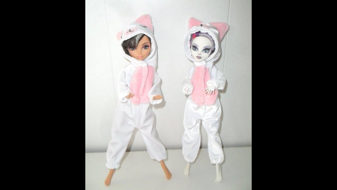 как сшить кигуруми для кукол