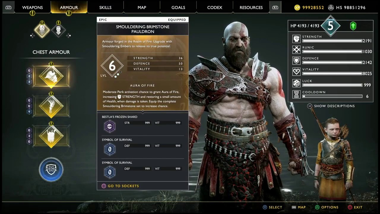 God Of War - Lot Of Health Hack