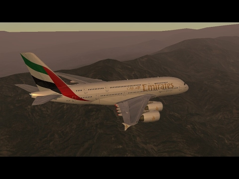 Infinite Flight Simulator's broadcast live. Emirates Airlines Airbus -A380-800/ Take Off...