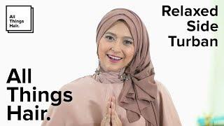 Gambar cover Tutorial Hijab gaya Relaxed side turban a la Natasha Farani