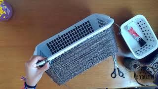 DIY - caixa organizadora de sisal