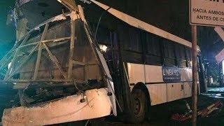 Two killed, 14 injured in train-bus crash in Argentina