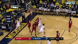 Big Ten Basketball Highlights: Rutgers at Michigan