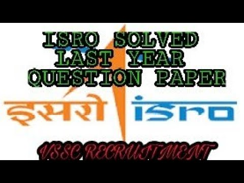 ISRO VSSC PAPER with  solution- Technician B Fitter 2016, VS