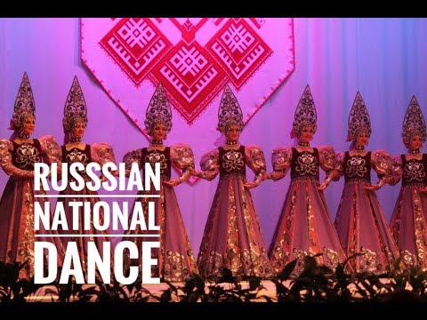 Russian national dance show Gzhel in Moscow 2018