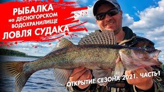 Рыбалка на Десногорском водохранилище Открытие сезона 2021 Ловля судака Часть 1